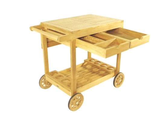 Alicante Teak Drink Trolley - Picture C