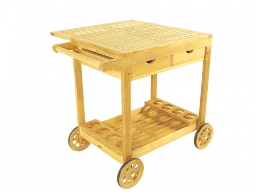 Alicante Teak Drink Trolley - Picture D