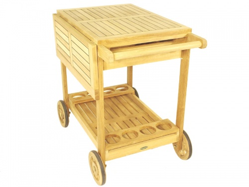 Alicante Teak Drink Trolley - Picture G