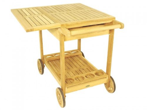 Alicante Teak Drink Trolley - Picture H