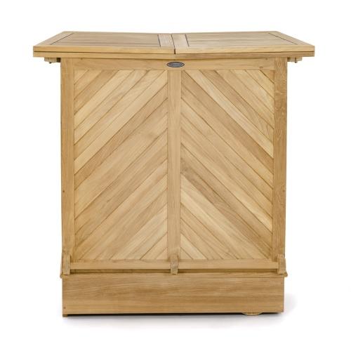 Teak folding cabinet bars