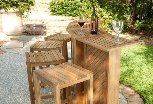 Westminster Teak Outdoor Dry Bar For Pool And Pati