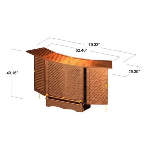 Somerset Teak Bar Foldable with Wheels - Picture L