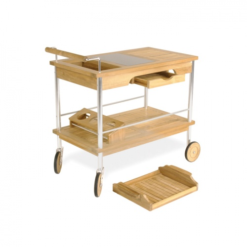 Elle Drink Trolley with Aluminum - Picture A