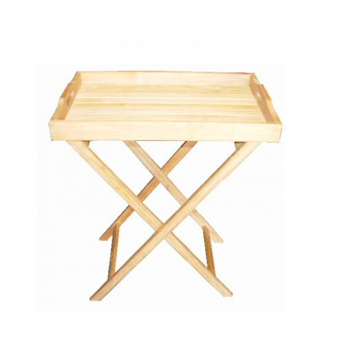 Folding Teak Tray - Picture A