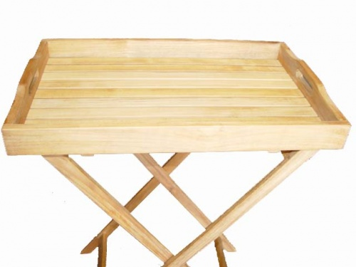 Folding Teak Tray - Picture C