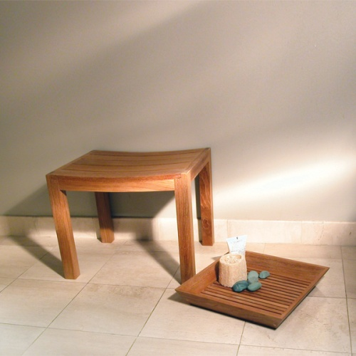 teak bath trays