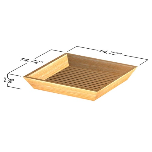 teak tub trays