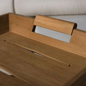 teak butler trays