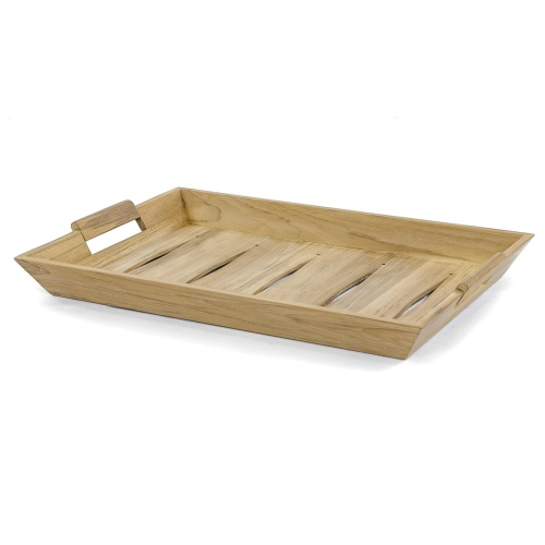 teak serving trays