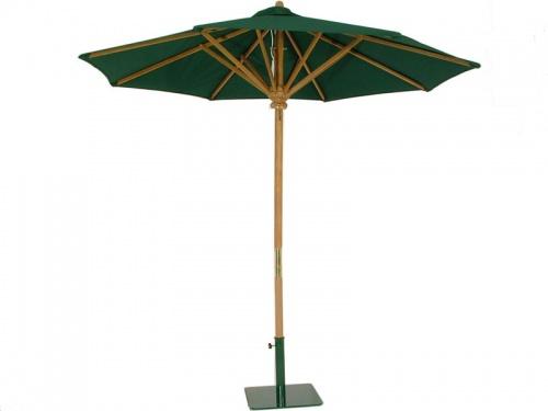 Teak Round Umbrella 8 ft - Picture A
