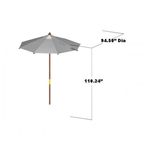 Teak Round Umbrella 8 ft - Picture E