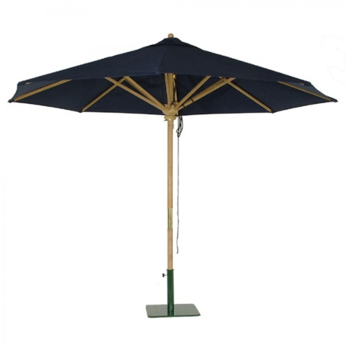 10 ft teak round umbrellas