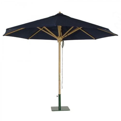 10 ft teak round umbrellas