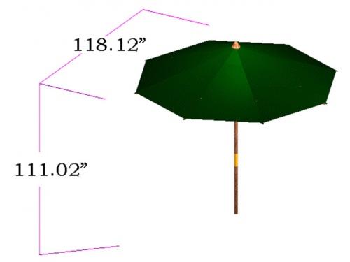 Round Umbrella dia 118 - Picture G