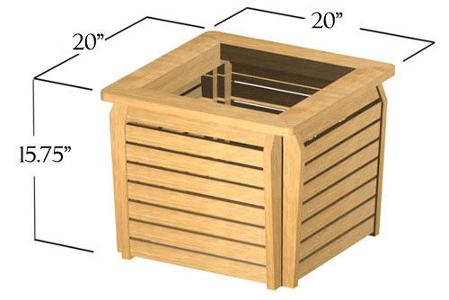 20x20 Westminster Planter - Picture E