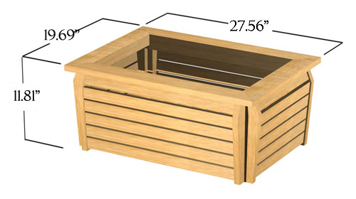 Westminster Rectangular Planter 20x28 - Picture F