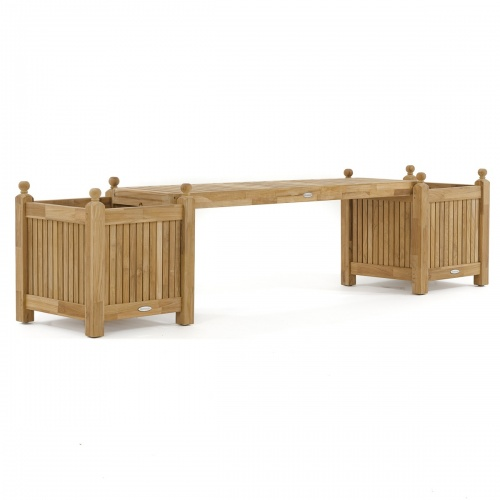 Teak Planter Bench Seat Panel - Picture F