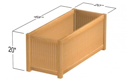 Westminster Rectangular Planter 20x48 - Picture E