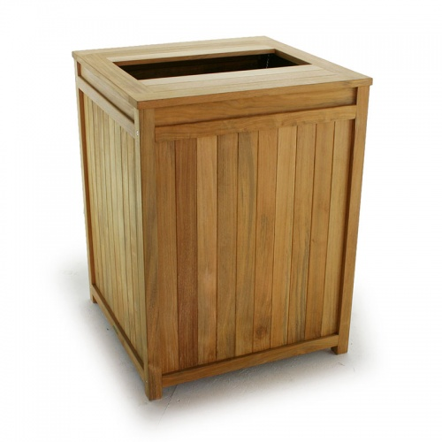 Teak Clothes and Towel Hamper - Picture A