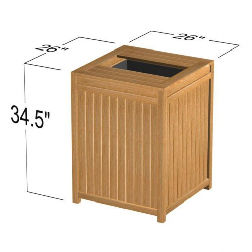 Teak Clothes and Towel Hamper - Picture E