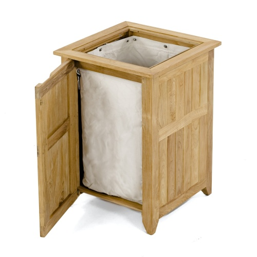 teak trash cans