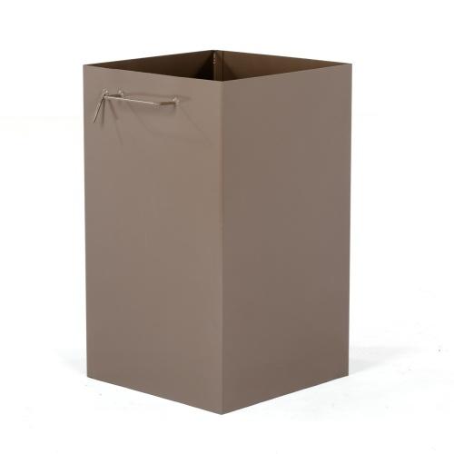 wooden trash bins
