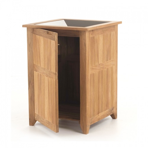 Refurbished Palazzo Teak Trash Receptacle - Picture E