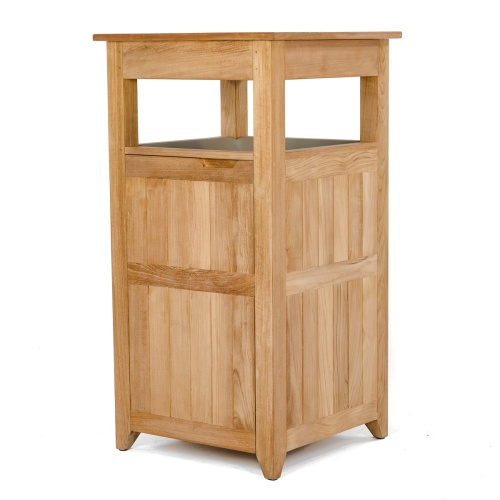 teak trash receptacles