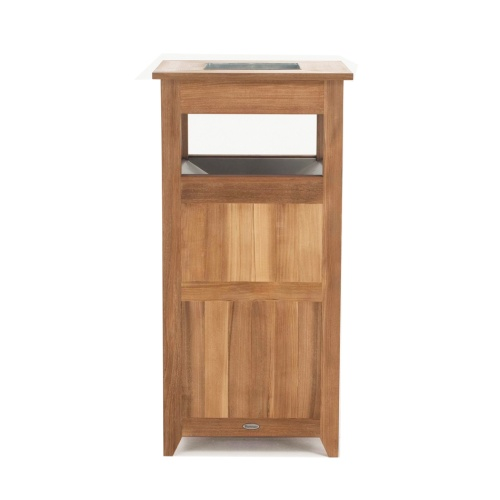 Teak Trash Receptacle, Laundry Hamper - Picture C