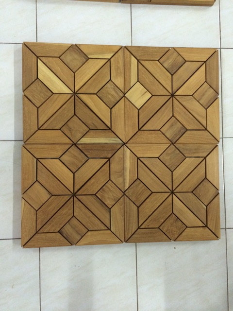 Arabesque Wood Deck Teak Tiles - Picture A