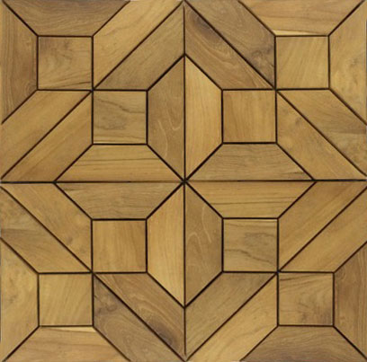 Arabasque Teak Tiles - Picture A