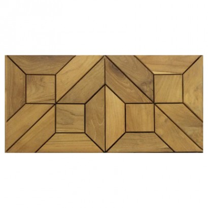 Arabasque Teak Tiles - Picture B
