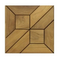 Arabasque Teak Tiles - Picture C