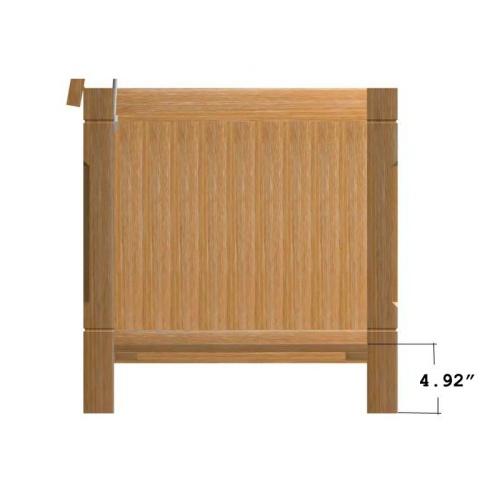 teak storage chest seating