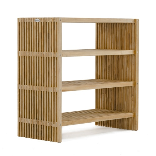 teak wood shelf