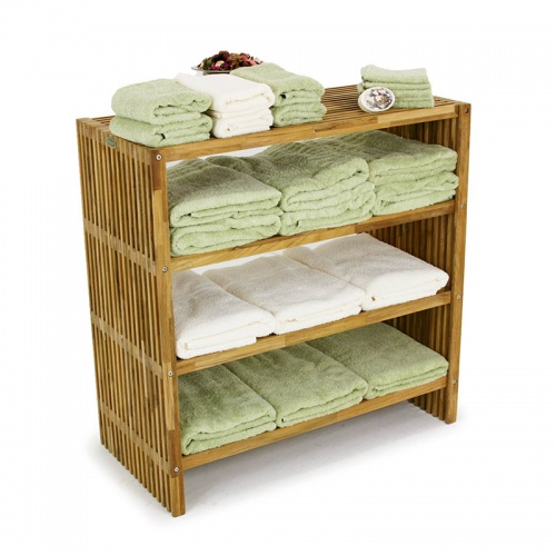 Westminster Teak Wood Waterproof Towel Shelf - Picture A