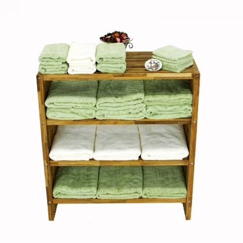 Westminster Teak Wood Waterproof Towel Shelf - Picture B