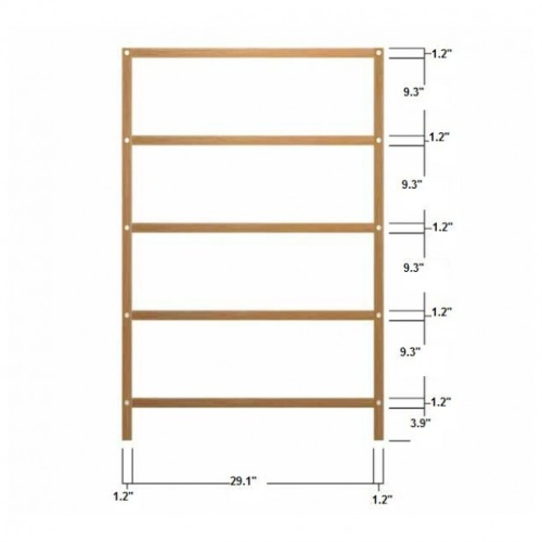 teak wood shelf