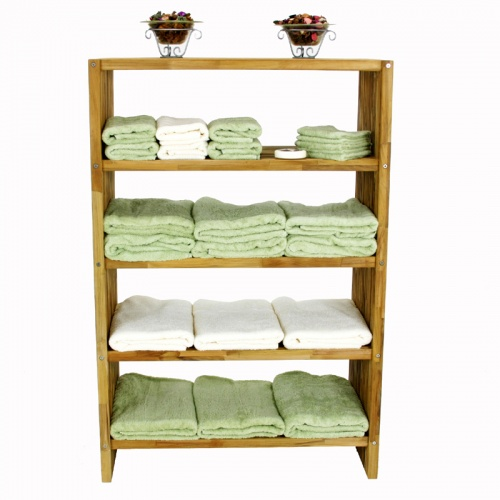 teak towel shelves