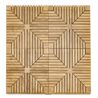 1 Carton Diamond Teak Floor Tiles