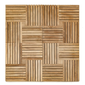 1 Carton of Parquet Teak Tiles
