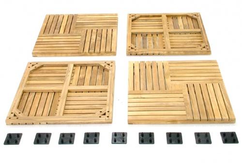 Parquet  Wood Deck Teak Bath Mat - Picture C