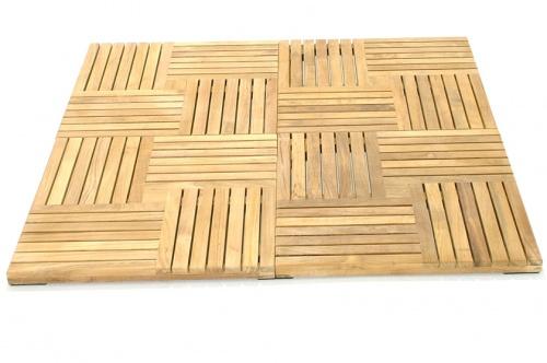 Parquet  Wood Deck Teak Bath Mat - Picture D