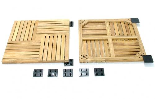 Parquet  Wood Deck Teak Bath Mat - Picture E
