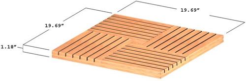 Parquet  Wood Deck Teak Bath Mat - Picture F