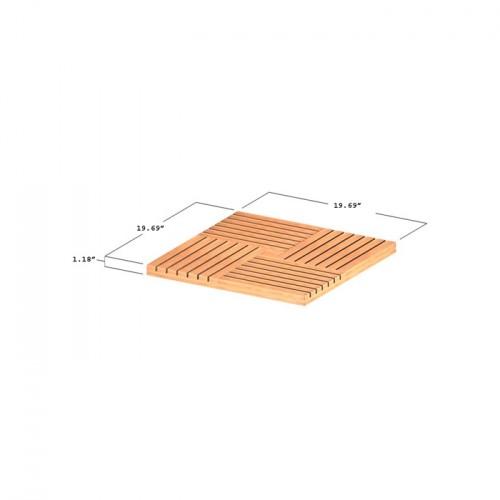 20 inch teak tiles
