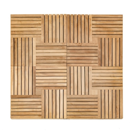 Westminster Teak Outdoor Floor Tile Squares - Picture A