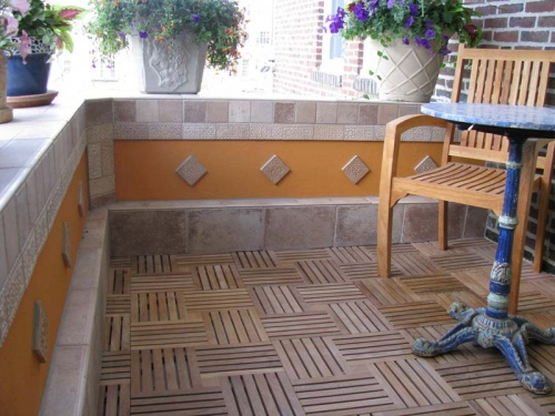 Teak Bath Mat - Picture B