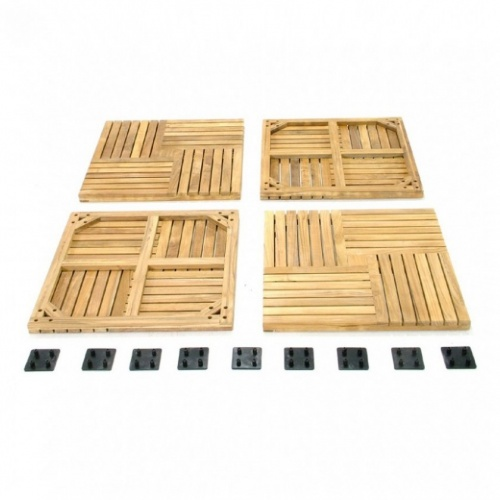 Teak Bath Mat - Picture F